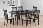 Brandt Cappuccino Wood Dining Table Set