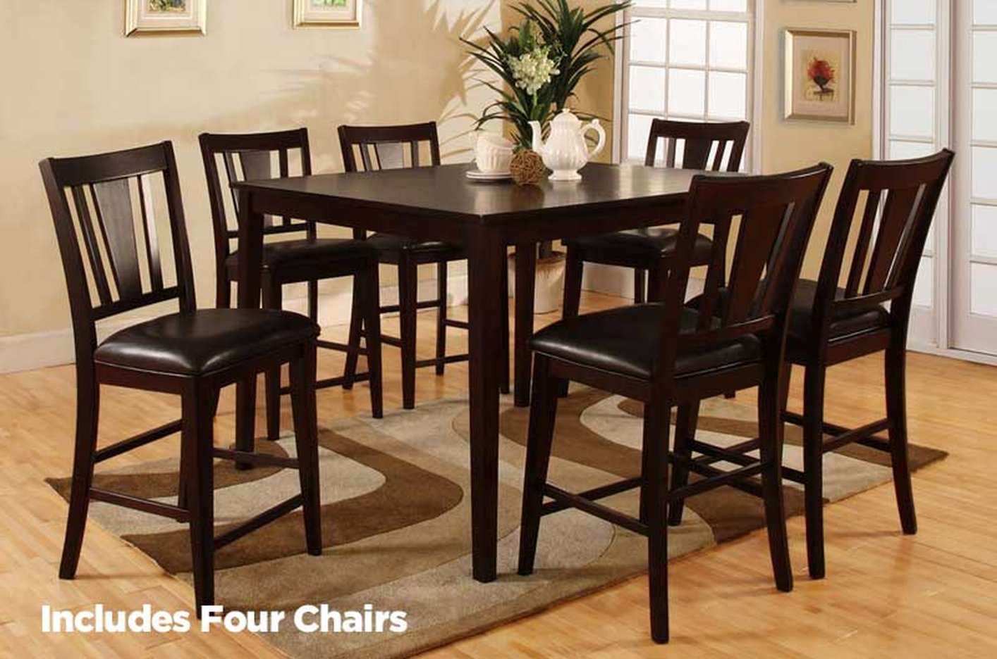 Bridgette 5pc Pub Table and Chair Set & Bridgette 5pc Pub Table and Chair Set - Steal-A-Sofa Furniture ...