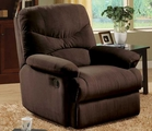 Brier Chocolate Microfiber Recliner