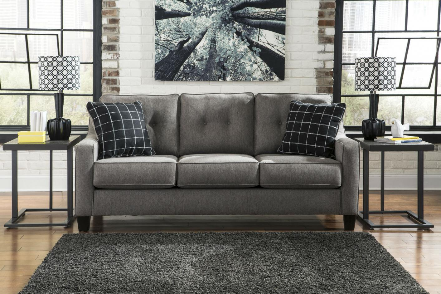Exceptional Brindon Grey Fabric Sofa