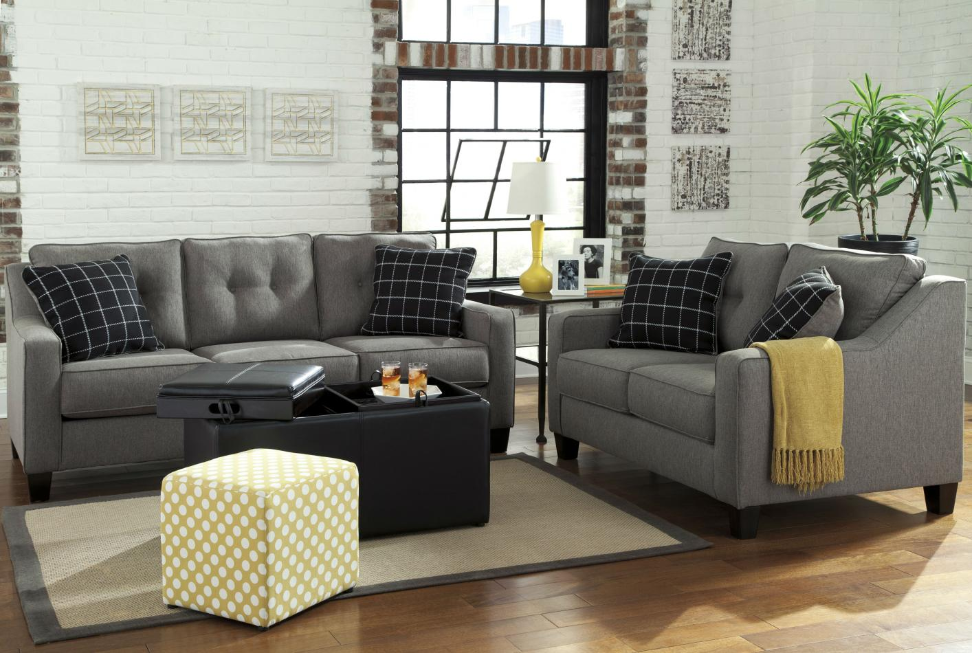 Brindon Grey Fabric Sofa Bed