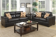 Bron Brown Leather Sofa and Loveseat Set