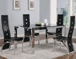 Broward Silver Metal And Glass Dining Table Set
