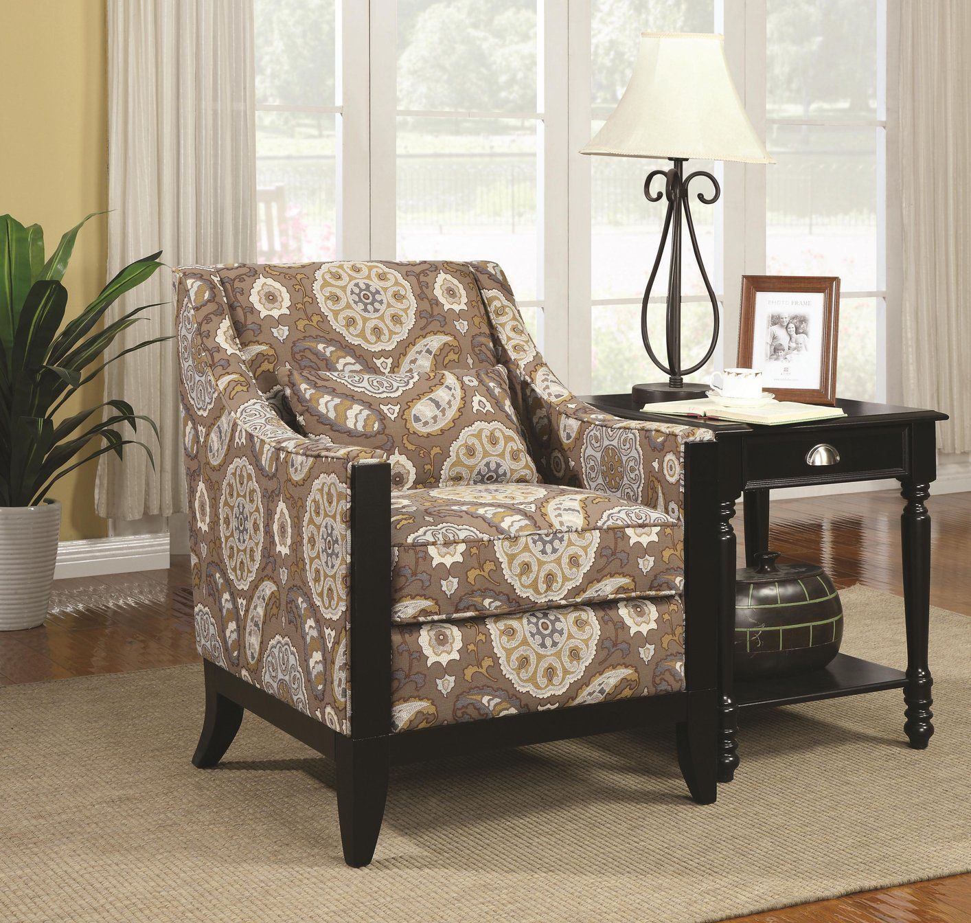 Etonnant Brown Fabric Accent Chair Brown Fabric Accent Chair ...