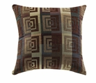 Brown Fabric Accent Pillow