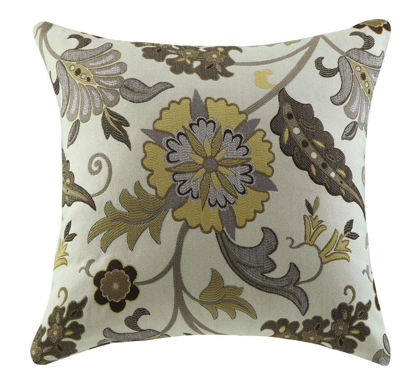 Yellow fabric accent pillow steal a sofa furniture - Fabric for throw pillows ...