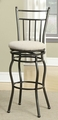 Beige Metal Bar Stool