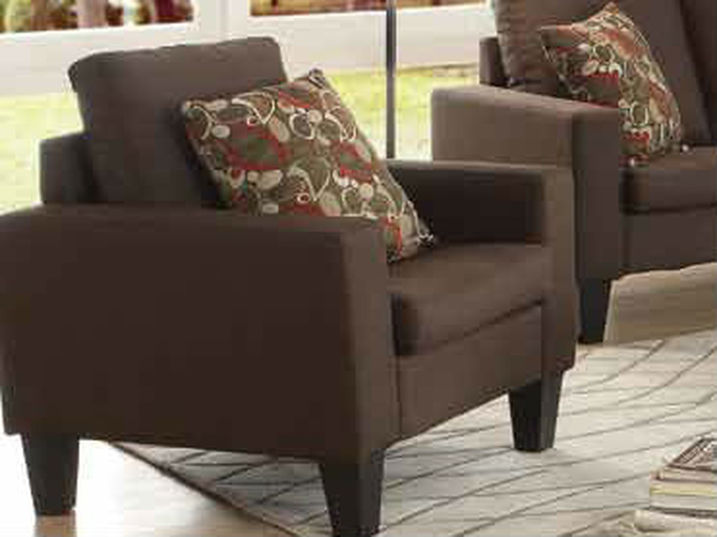 Coaster bachman 504769 brown fabric chair steal a sofa for Furniture 90036