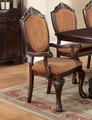 Brown Fabric Dining Chair