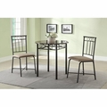 Brown Fabric Dining Table and Chair Set