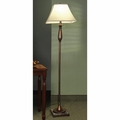 Brown Fabric Floor Lamp