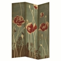 Brown Fabric Folding Screen