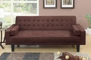 Brown Fabric Futon