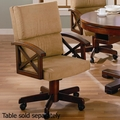 Beige Wood Game Chair
