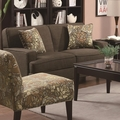 Finley Brown Fabric Loveseat