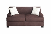 Nia Brown Wood Loveseat