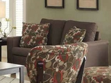 Bachman Brown Fabric Loveseat
