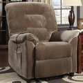 Brown Fabric Power Reclining Chair