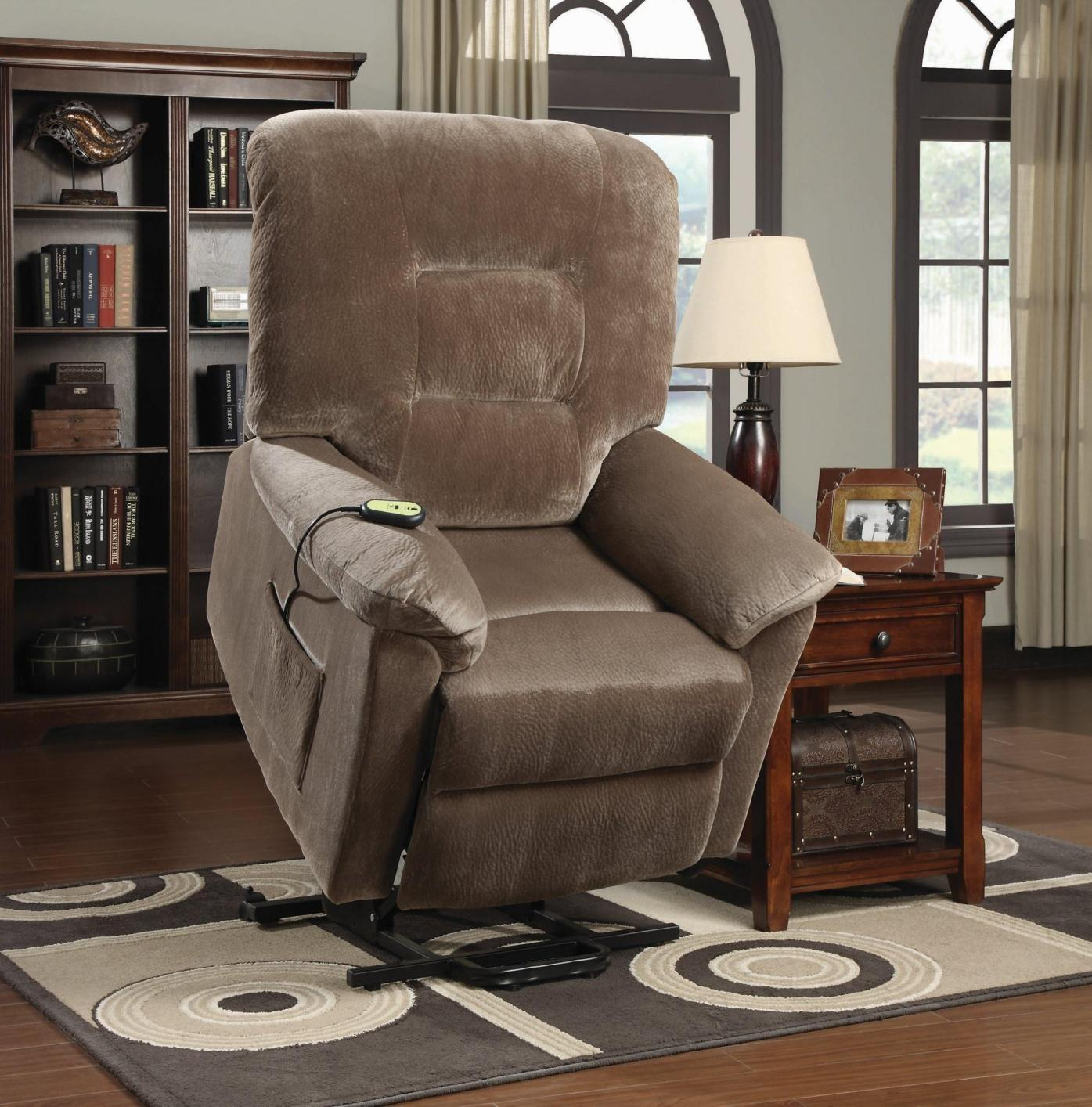 Brown Fabric Power Reclining Chair Steal A Sofa Furniture Outlet