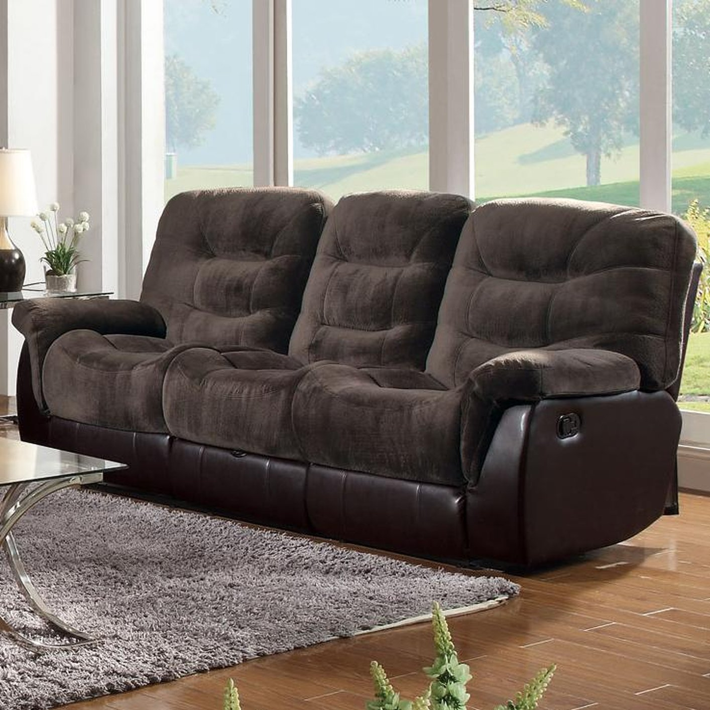 Brown Fabric Reclining Sofa & Brown Fabric Reclining Sofa - Steal-A-Sofa Furniture Outlet Los ... islam-shia.org