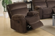 Brown Fabric Rocker Recliner Chair