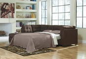 Maier Brown Fabric Sectional Sleeper Sofa