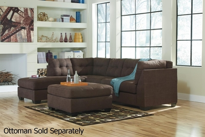 Maier Brown Fabric Sectional Sofa