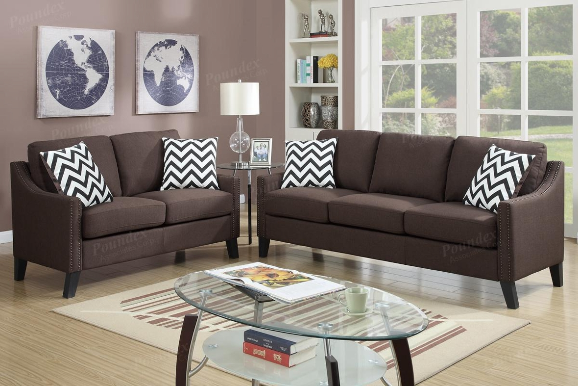 Brown Fabric Sofa And Loveseat Set Steal A Sofa