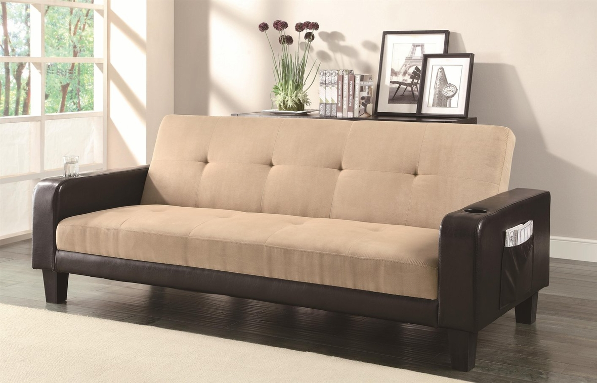 Coaster 300295 Brown Fabric Sofa Bed