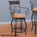 Beige Metal Stool