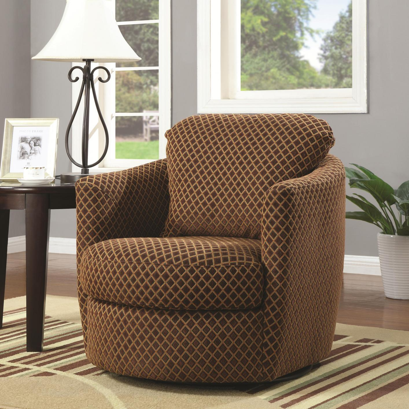 brown fabric swivel chair  stealasofa furniture outlet