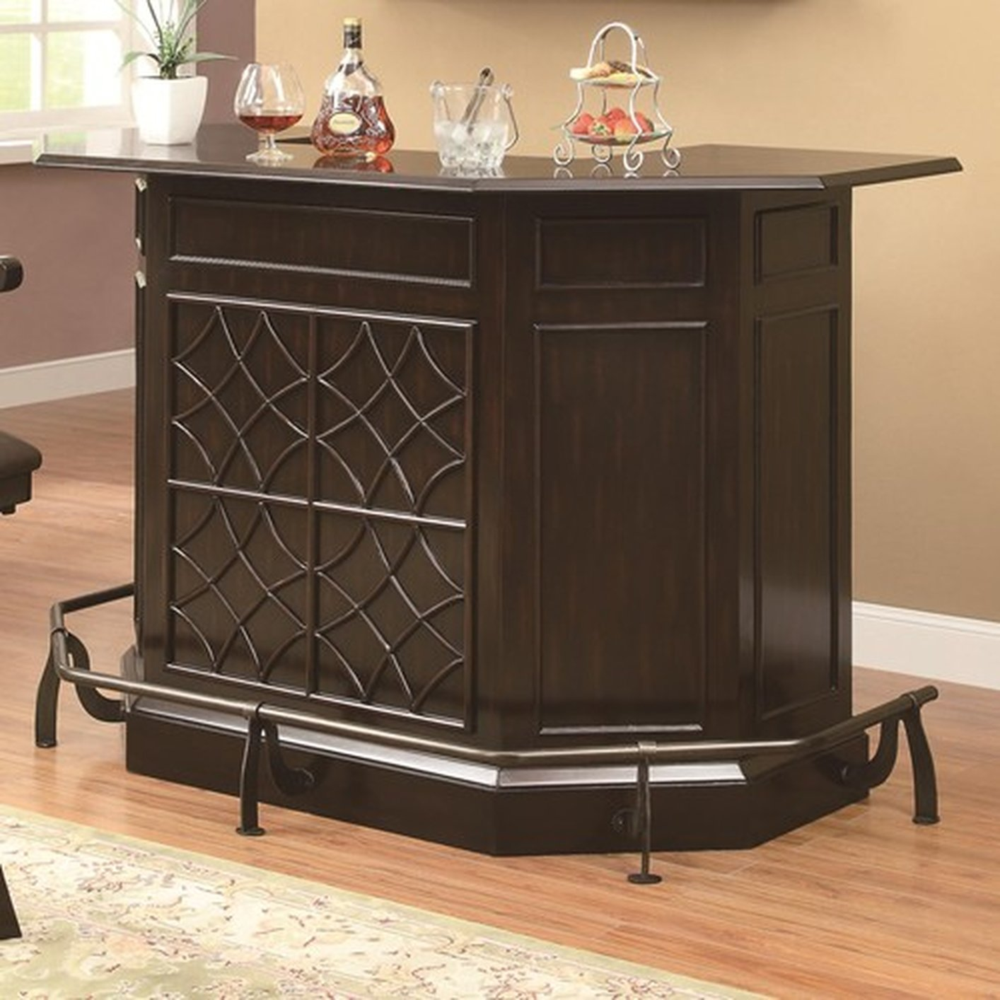 Brown glass bar unit steal a sofa furniture outlet los