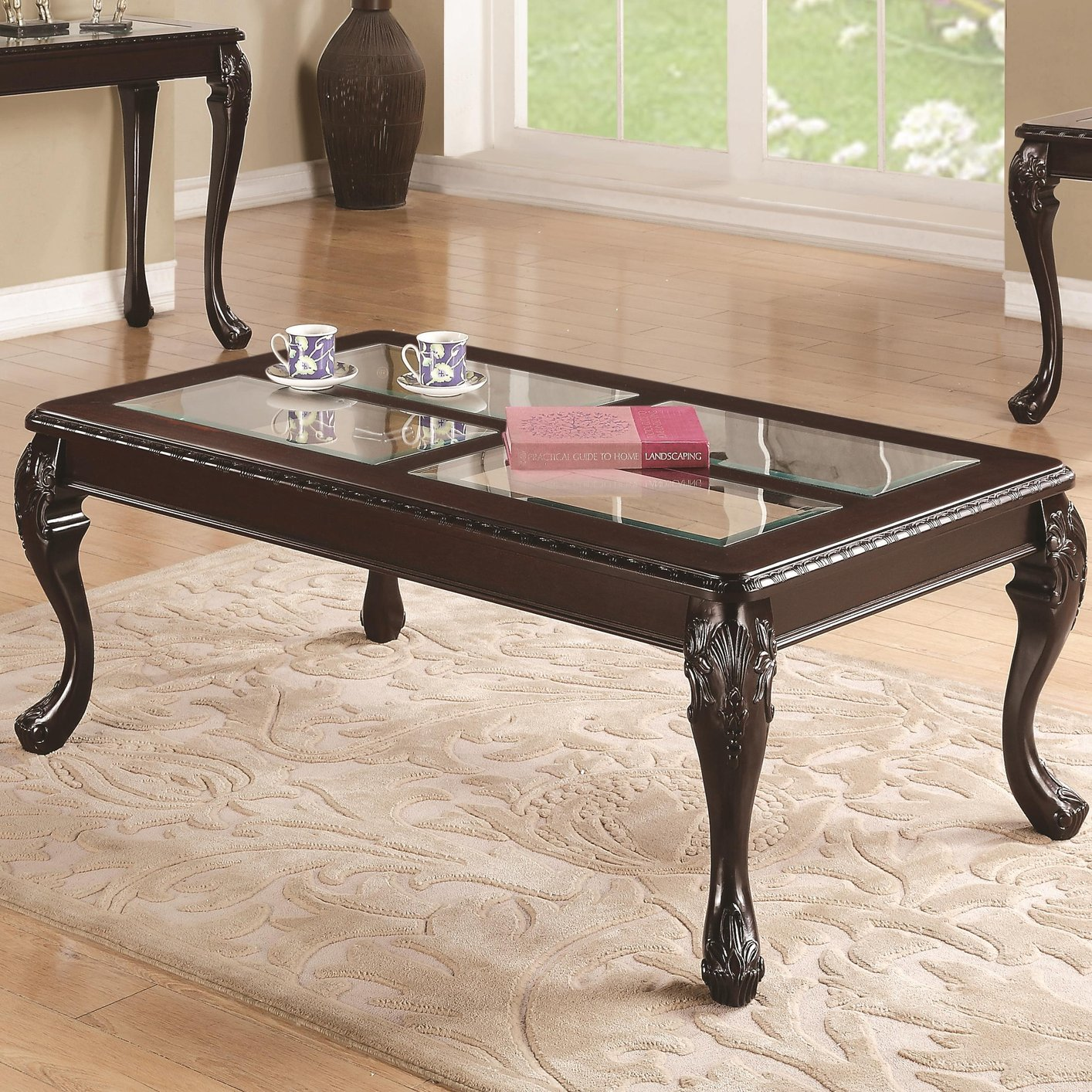 Furniture Legs Los Angeles brown glass coffee table - steal-a-sofa furniture outlet los
