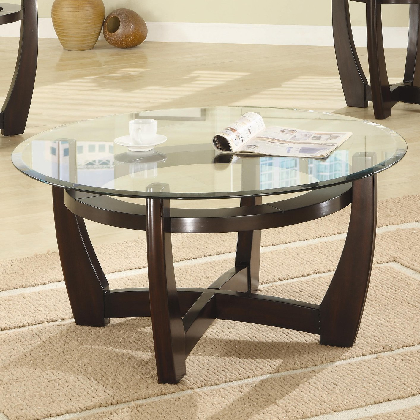 Brown Glass Coffee Table Set Steal A Sofa Furniture Outlet Los