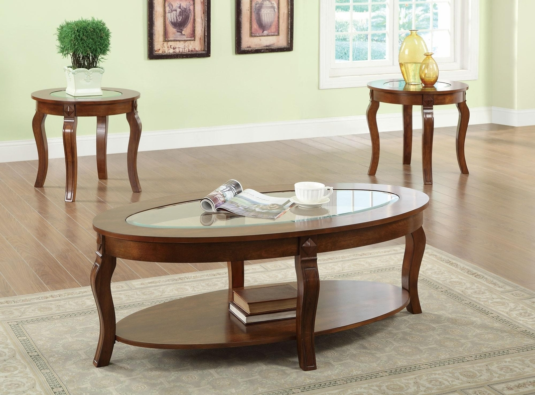 Coaster 701600 Brown Glass Coffee Table Set Steal A Sofa Furniture Outlet Los Angeles Ca