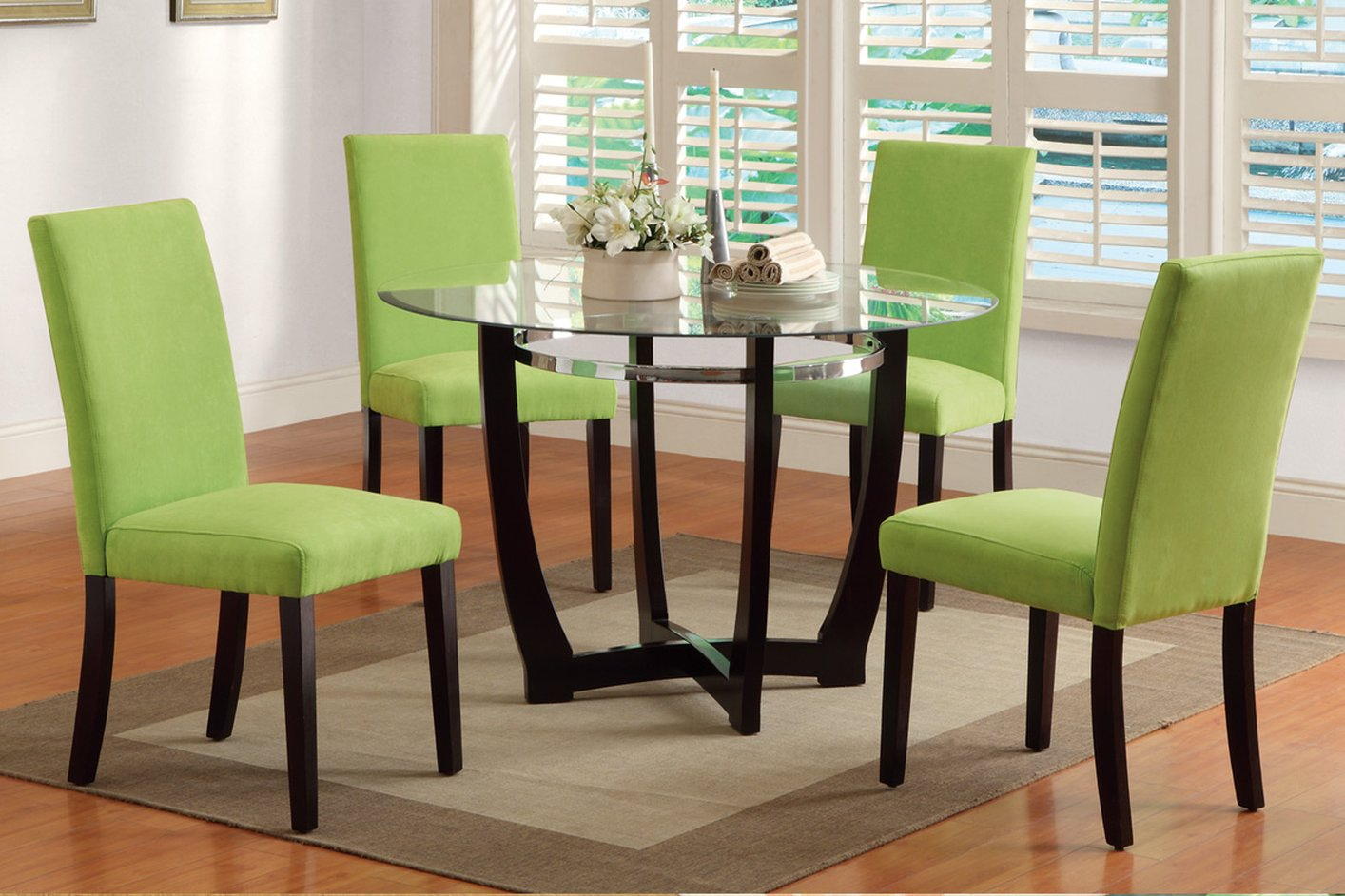 Brown Glass Dining Table - Steal-A-Sofa Furniture Outlet Los ...