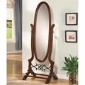 Red Wood Floor Mirror