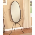 Brown Metal Floor Mirror