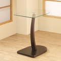 Brown Glass Snack Table