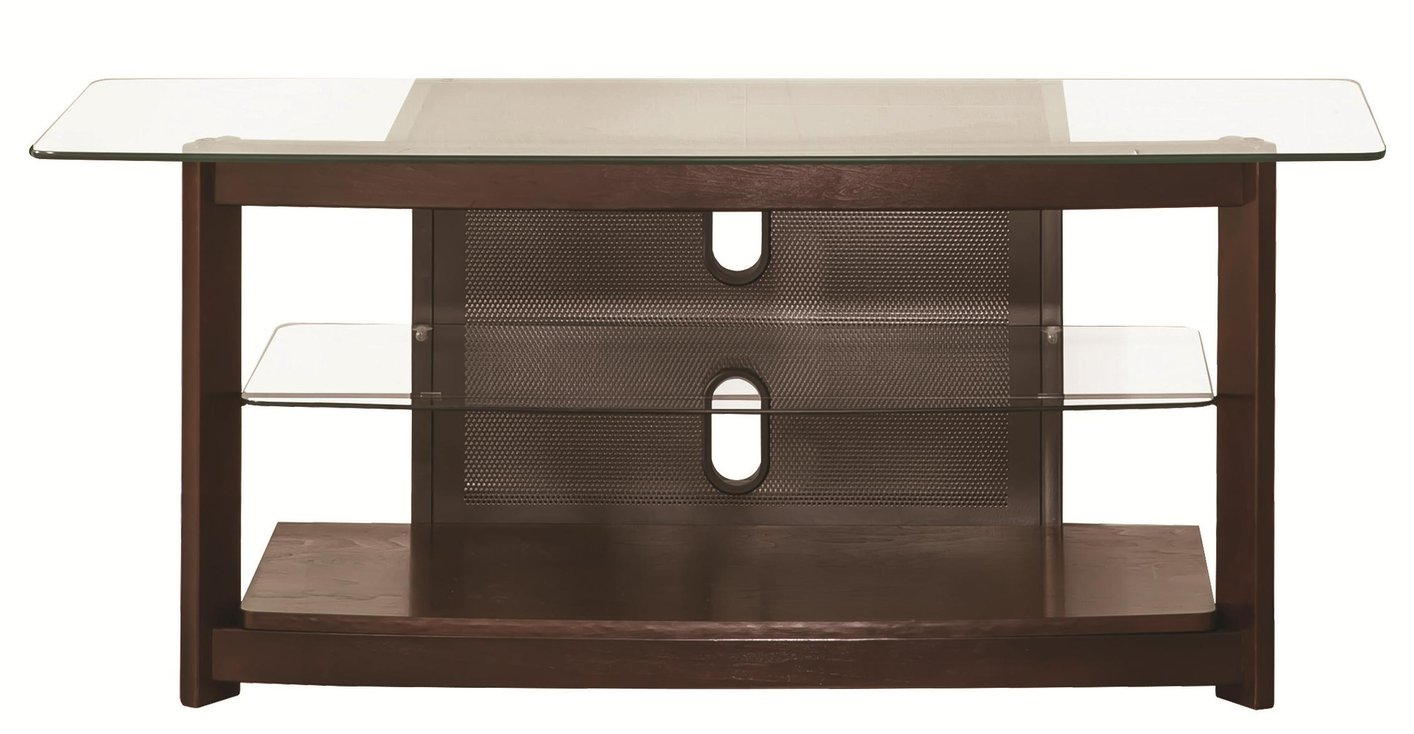 Brown Glass TV Stand Steal A Sofa Furniture Outlet Los Angeles CA