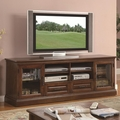 Brown Glass TV Stand