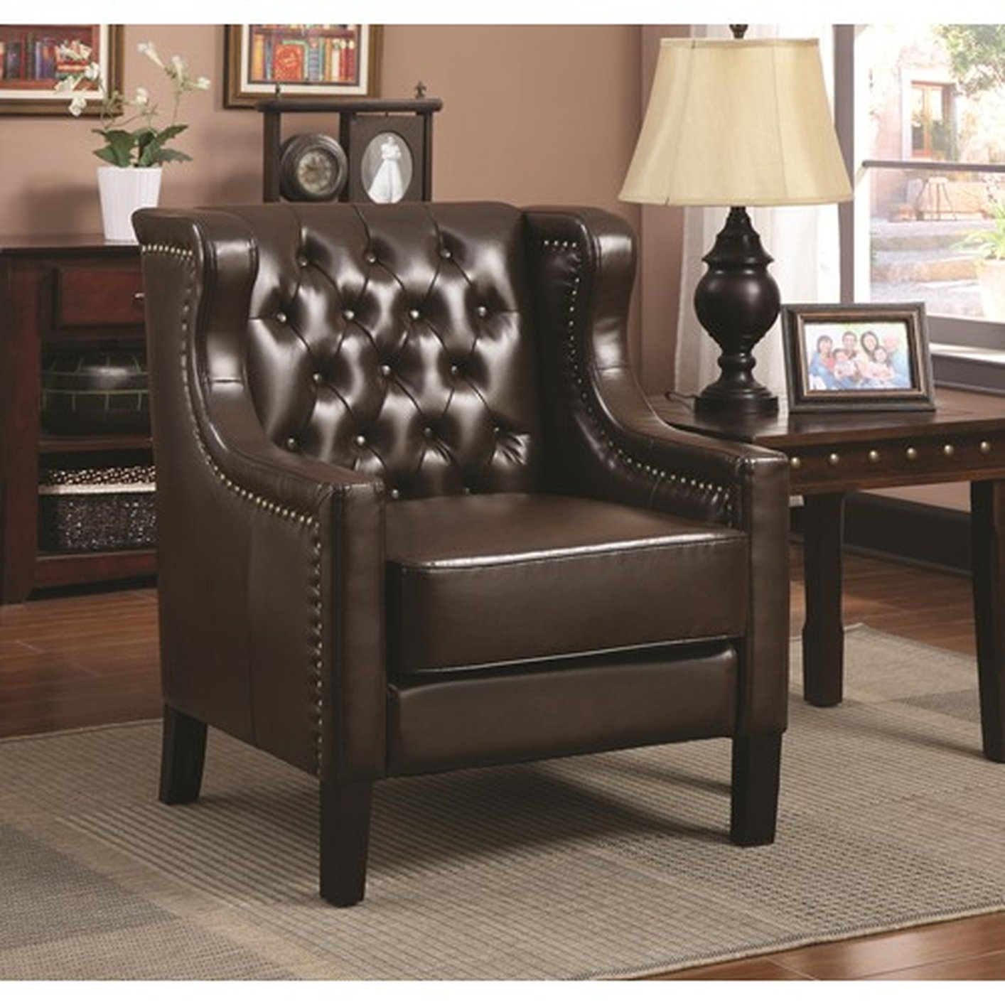Brown Leather Accent Chair Steal A Sofa Furniture Outlet Los