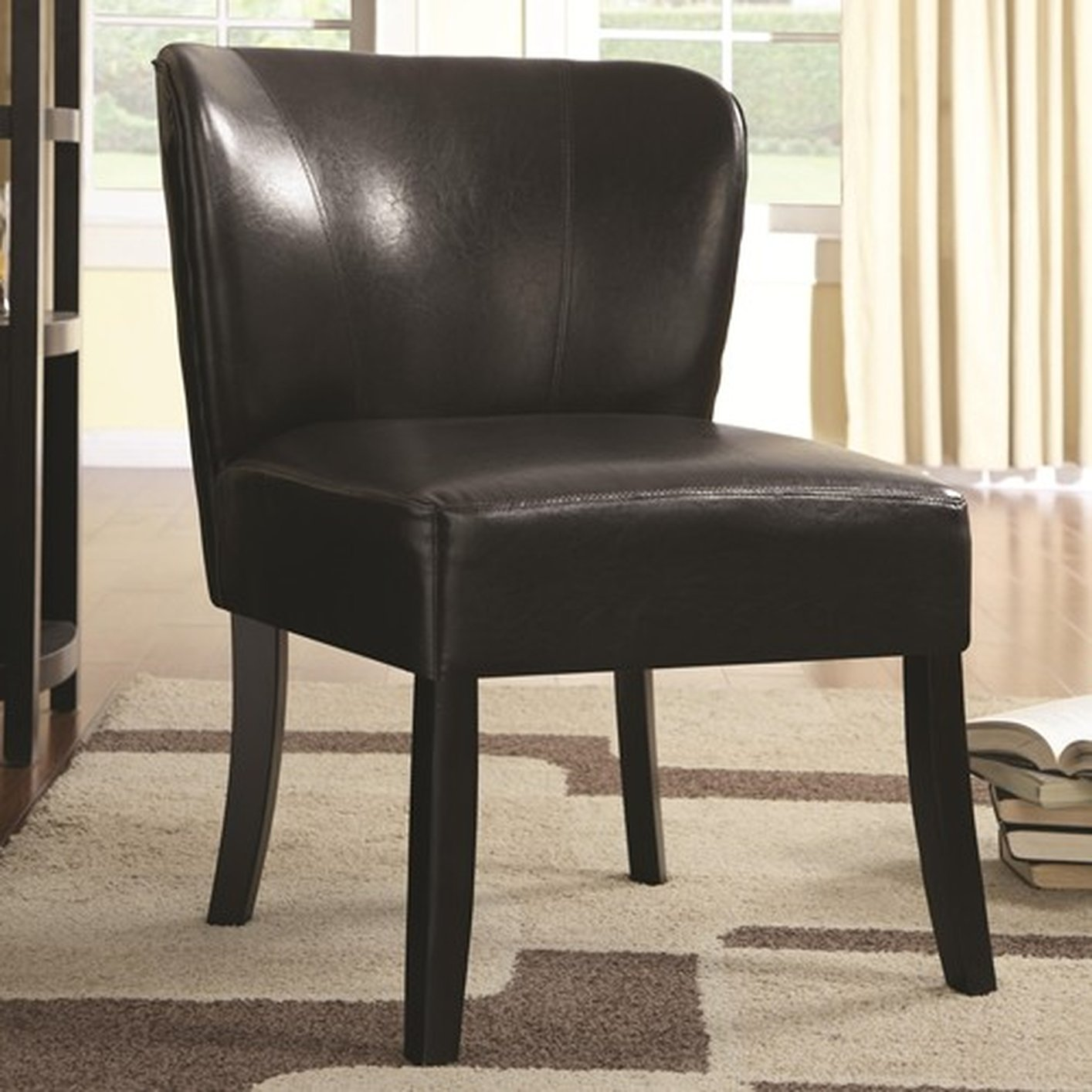 Brown Leather Accent Chair - Steal-A-Sofa Furniture Outlet ...