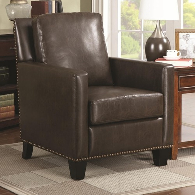Accent chair with brown leather sofa for Accent chair with brown leather sofa