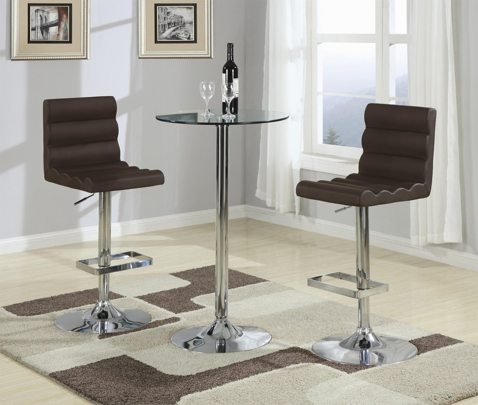 Coaster 120355 Brown Leather Bar Stool Steal A Sofa Furniture Outlet Los Angeles Ca