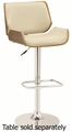Beige Wood Bar Stool