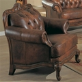 Victoria Brown Leather Chair
