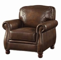 Montbrook Brown Leather Chair