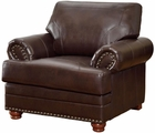 Colton Brown Leather Chair