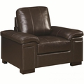 Winfred Brown Leather Chair